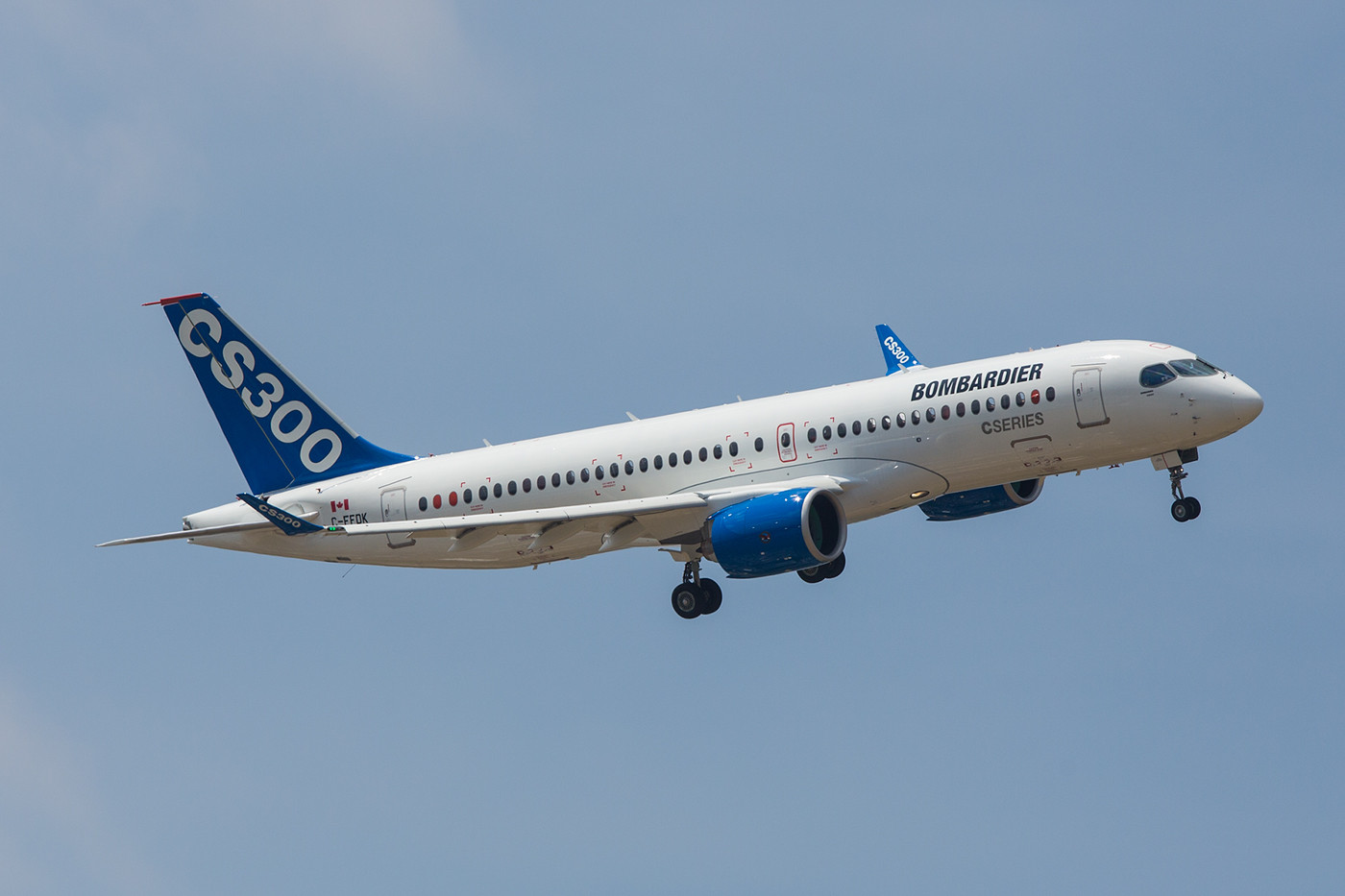 Der Bombardier CS300 konnte leider keinen neuen Kunden überzeugen.