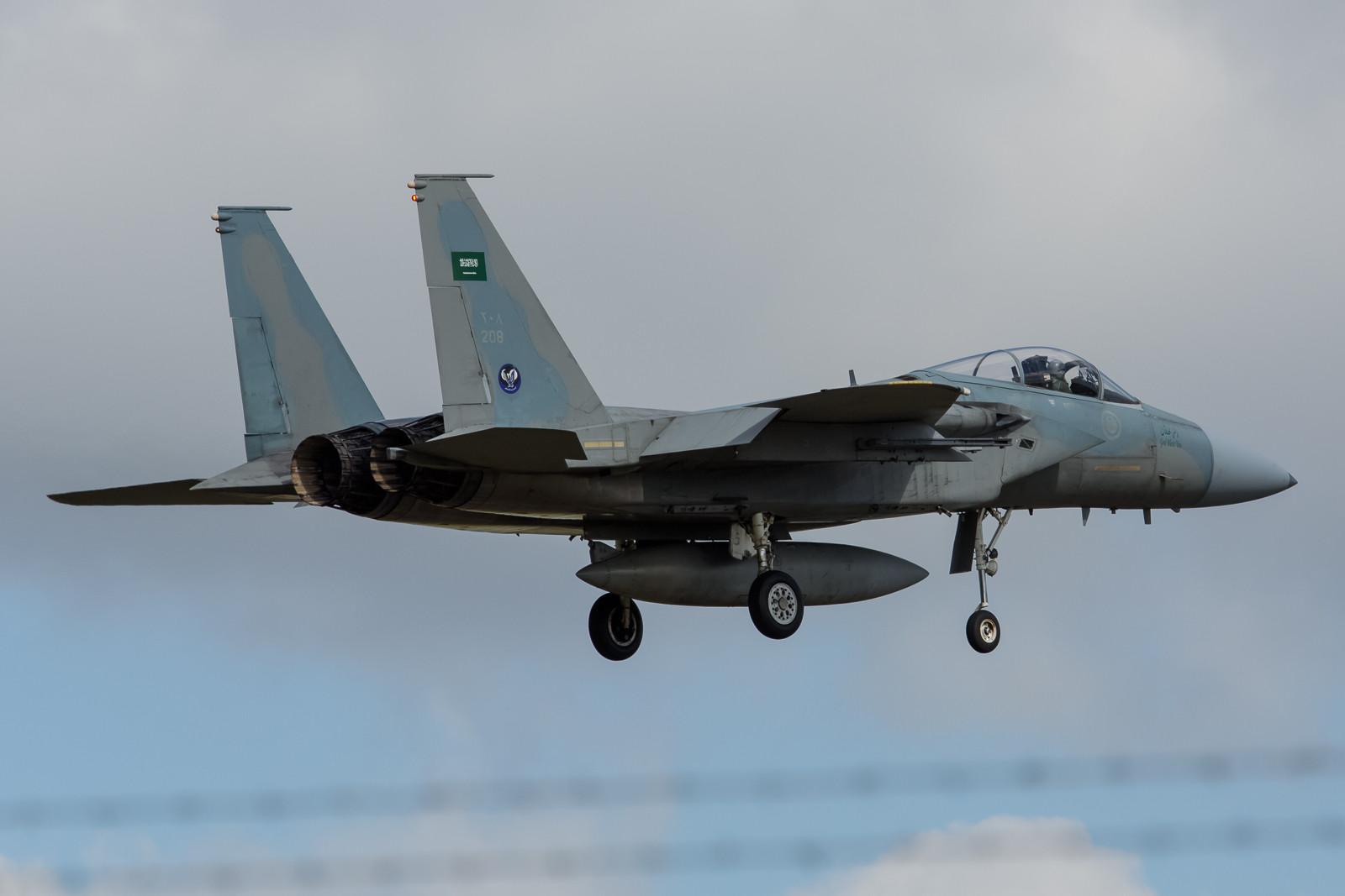 Knapp über dem Zaun erwischt die 208, ebenfalls eine F-15C.