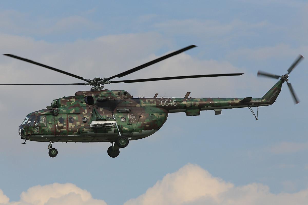 """Mi-17 in einem """"Digi-Camouflage""""."""