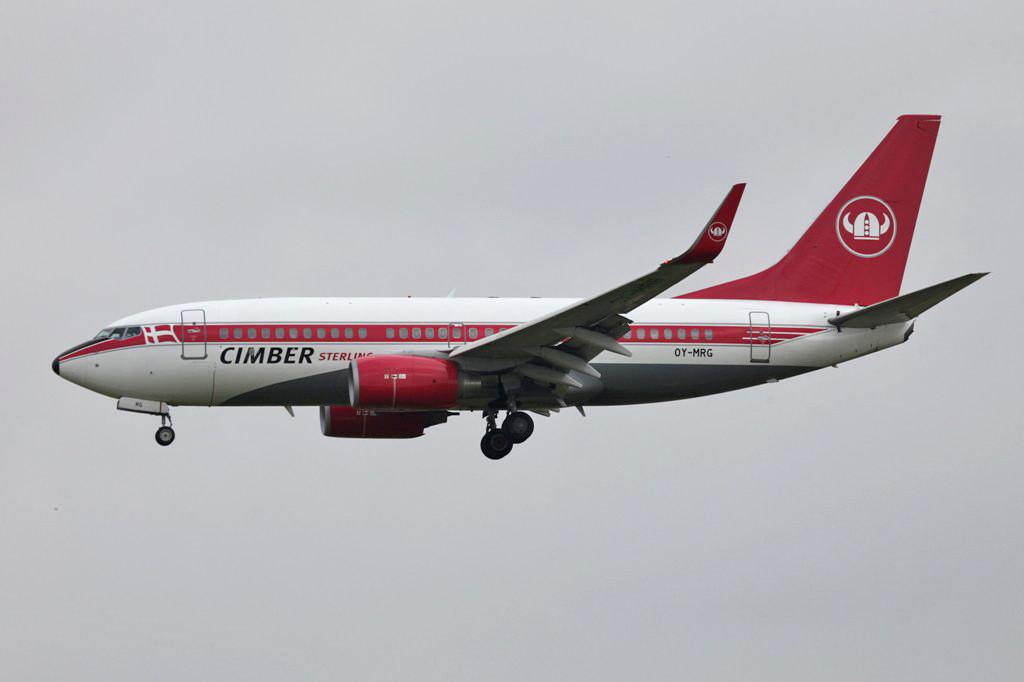 Die Cimber Sterling aus Dänemark entstand aus dem Zusammenschlu beider Airlines.