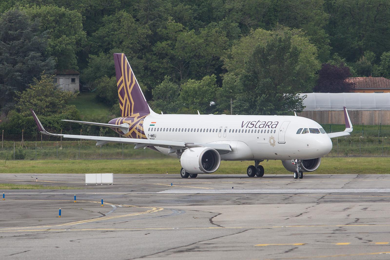 A320NEOder indischen Neugründung Vistara.