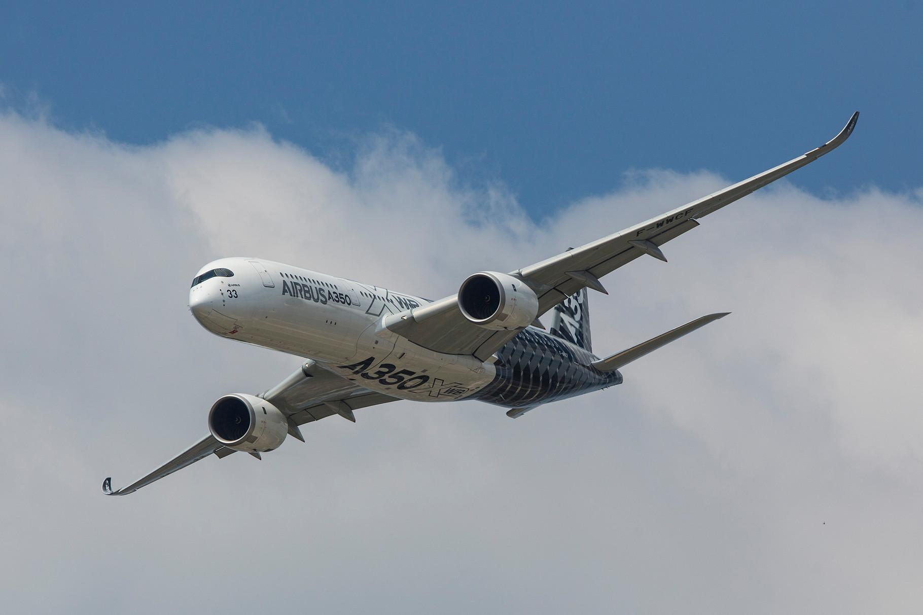 Auch Airbus präsentierte seinen neuen Widebody vor heimischem Publikum.