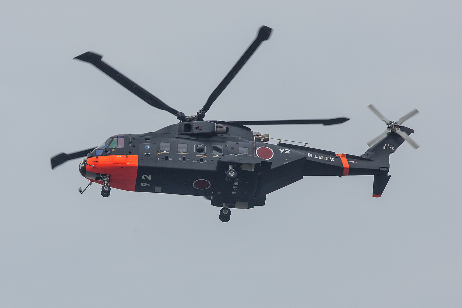 Die Agusta-Westland EH-101 Merlin werden auch als Bordhubschrauber auf den größeren Schiffen verwendet.