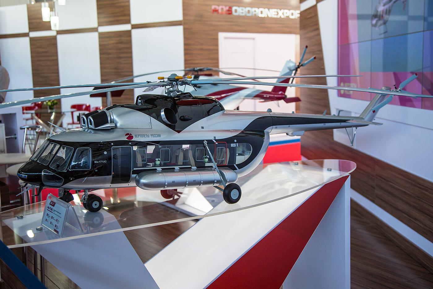 Modell der Mil Mi-171 in einer VIP-Variante