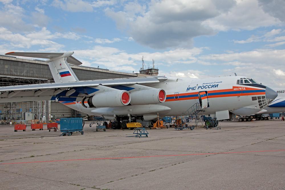IL-76 des MCS in der Maintenance.
