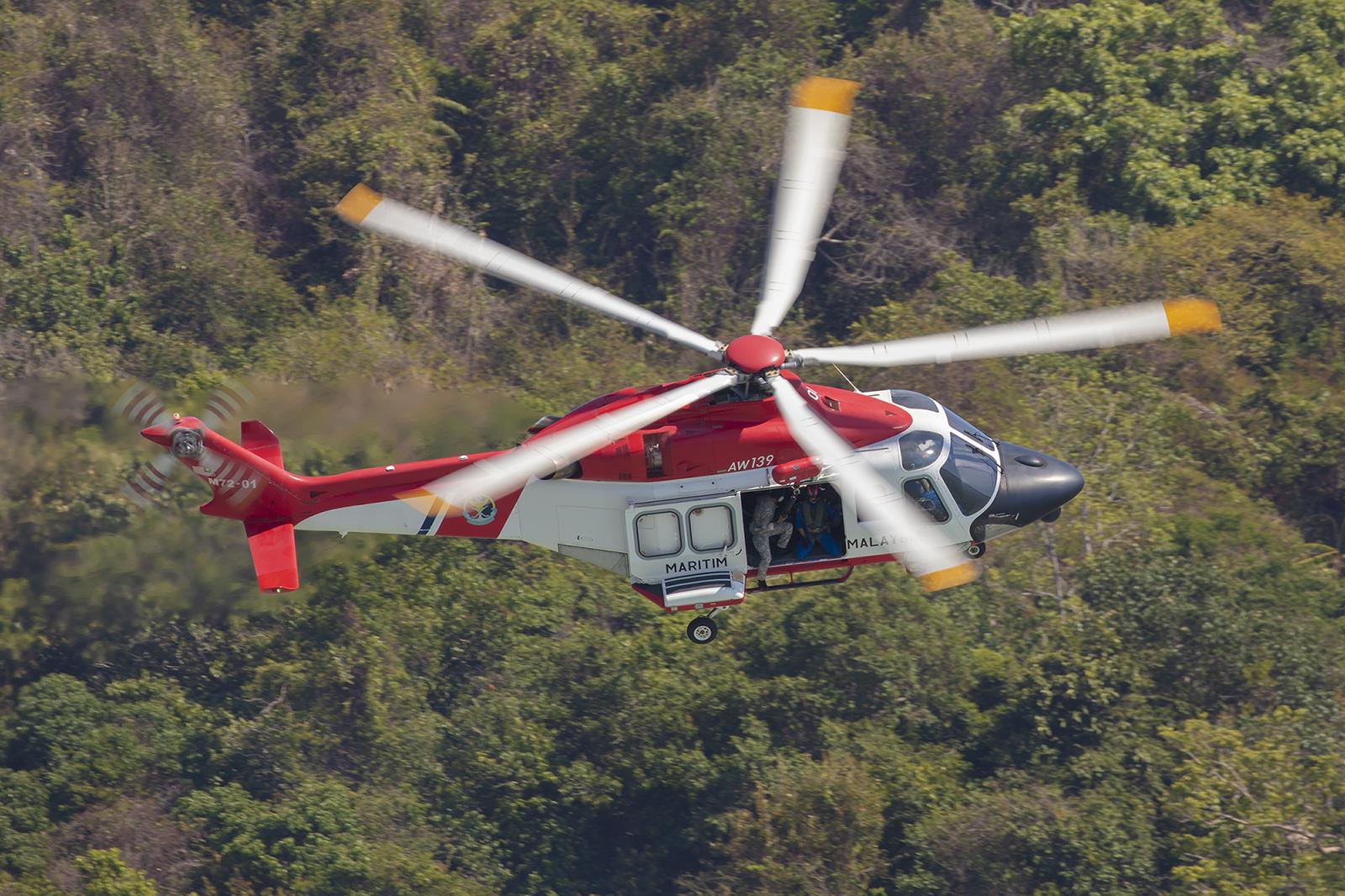 Ebenfals von der Maritime Enforcement Agency ist diese AW-139.
