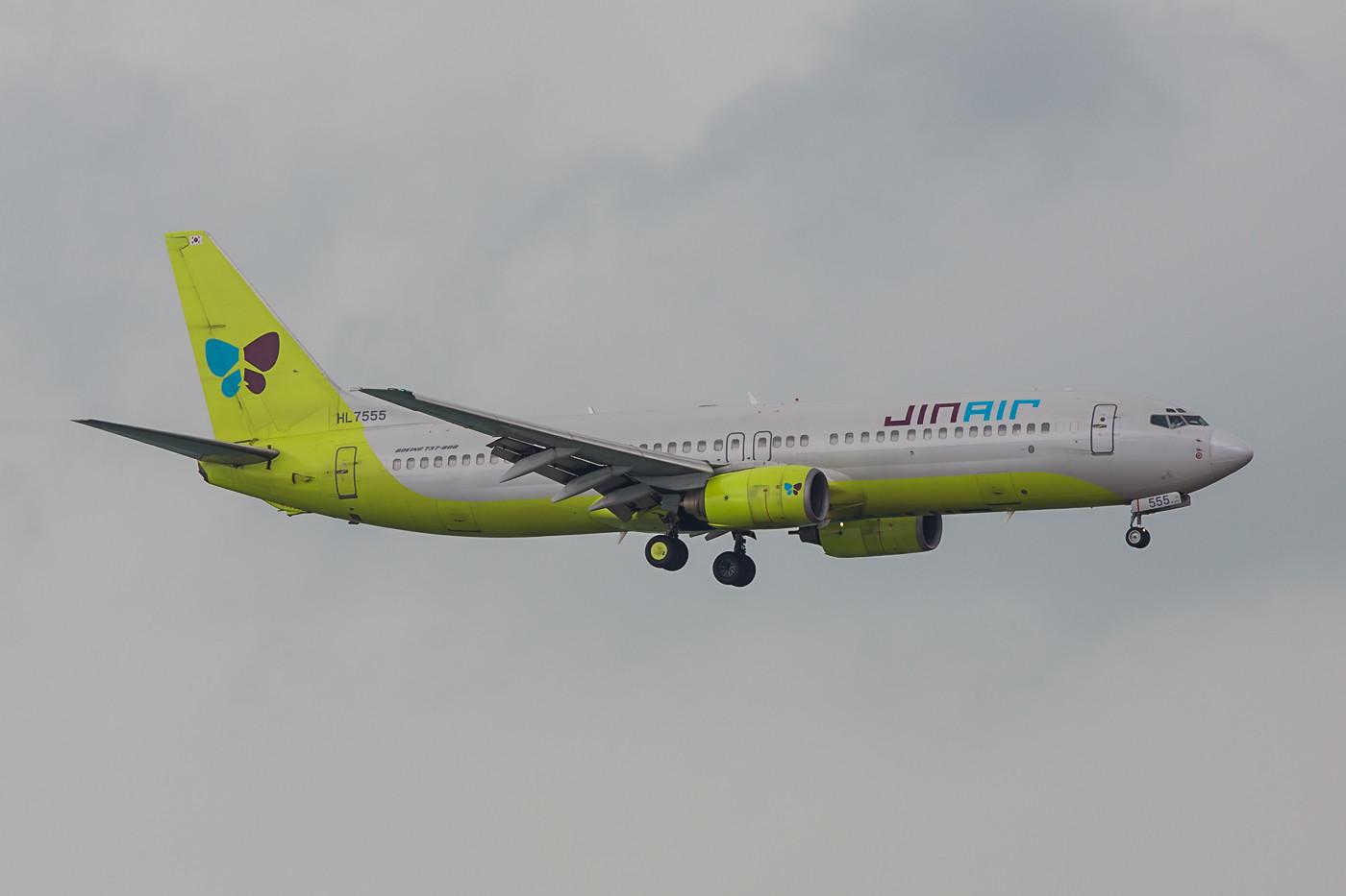 Jinair aus Incheon, ist eine Tochter der Korean Air.