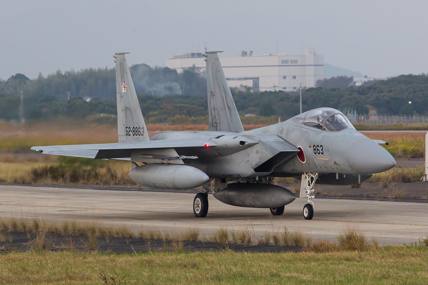 Die F-15 machten den Auftakt an diesem Tag.