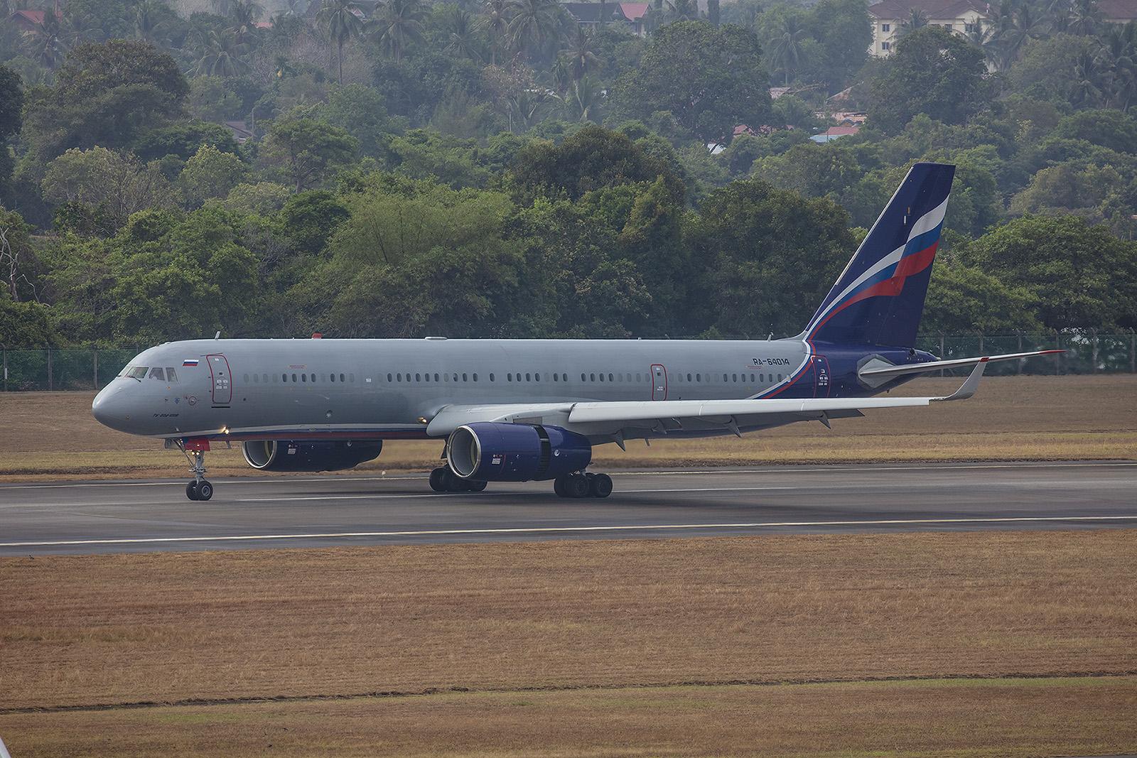 Eine tolle Überraschung war die Tupolev Tu-204 des Rusjet.