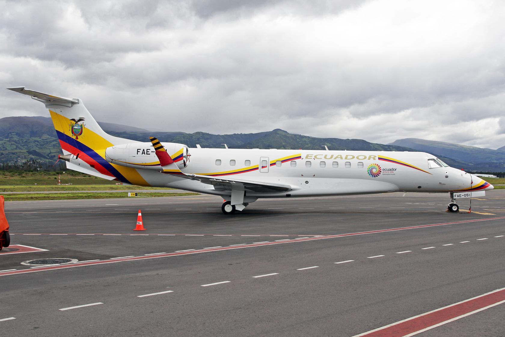 Fuerza Aérea Ecuatoriana Embraer EMB-135BJ Legacy 600 FAE-051 - Hier hatte ich ganz exklusiv die Ehre, diese Schönheit aus der Nähe ablichten zu dürfen. Normalerweise sind solche Aufnahmen nicht mehr möglich.