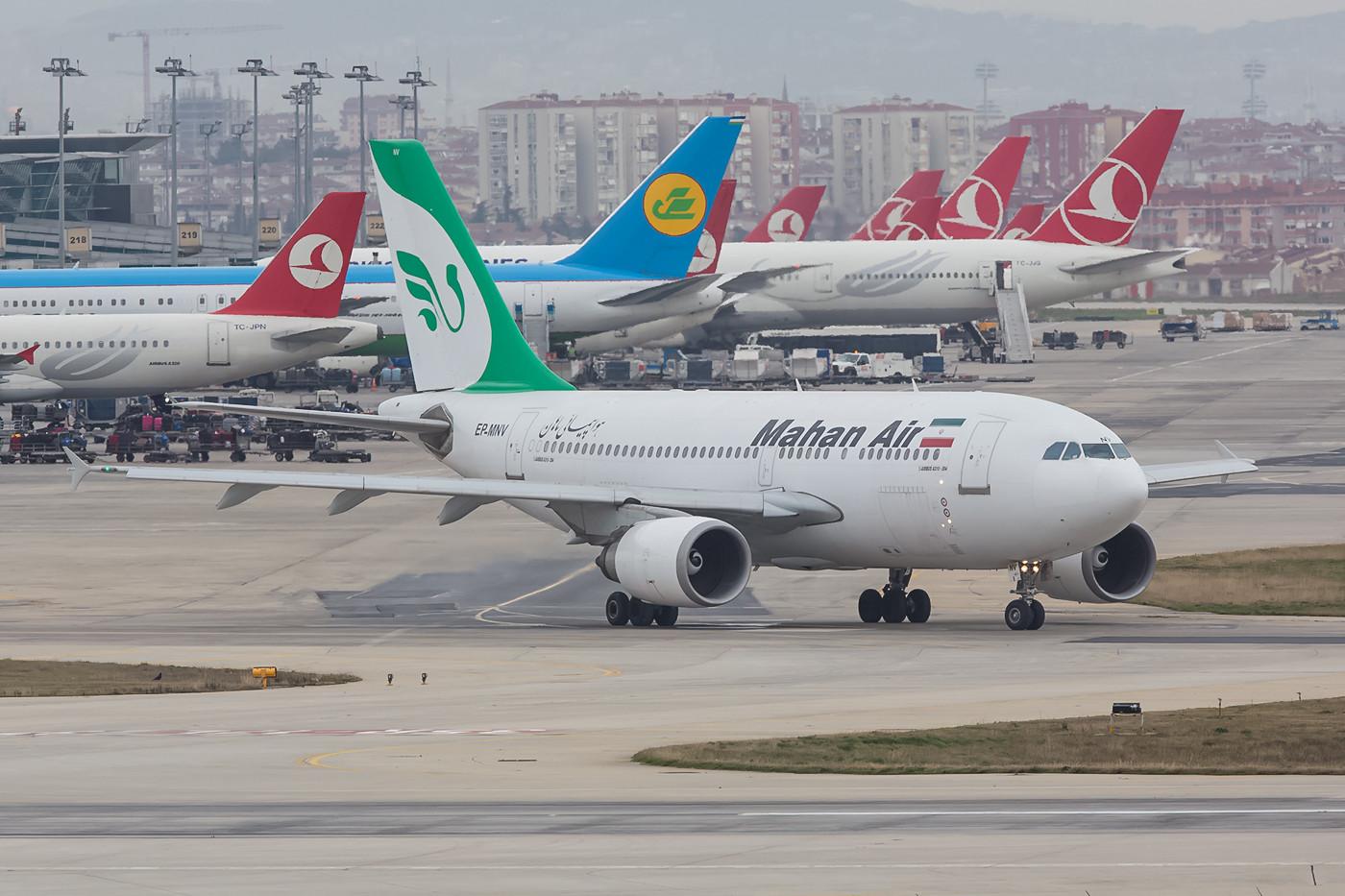 Mahan Air aus dem Iran mit Airbus A310.