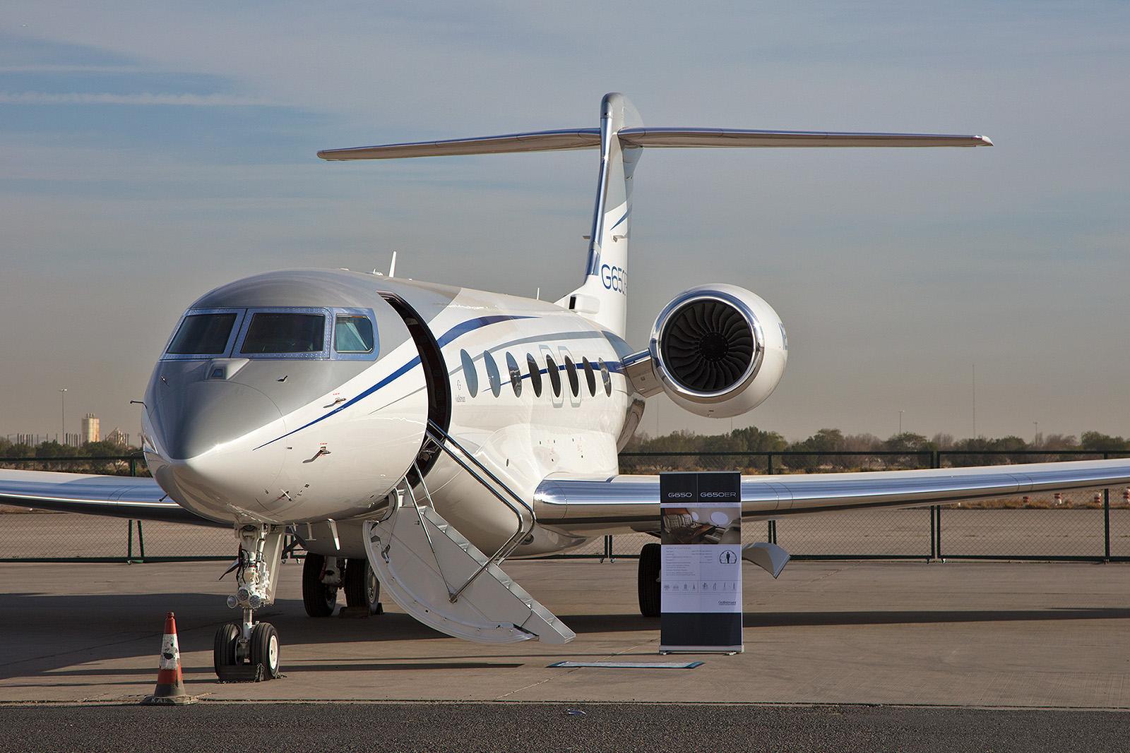 Des Spitzenmodel von Gulfstream, die G650.