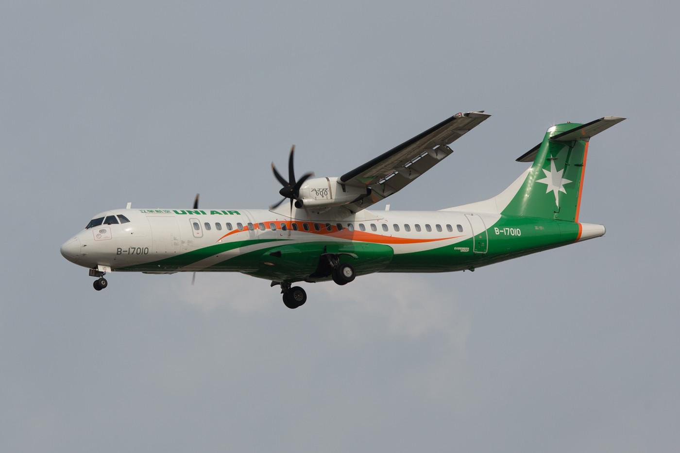 ATR 72-600 der Eva-Tochter UNI Air.