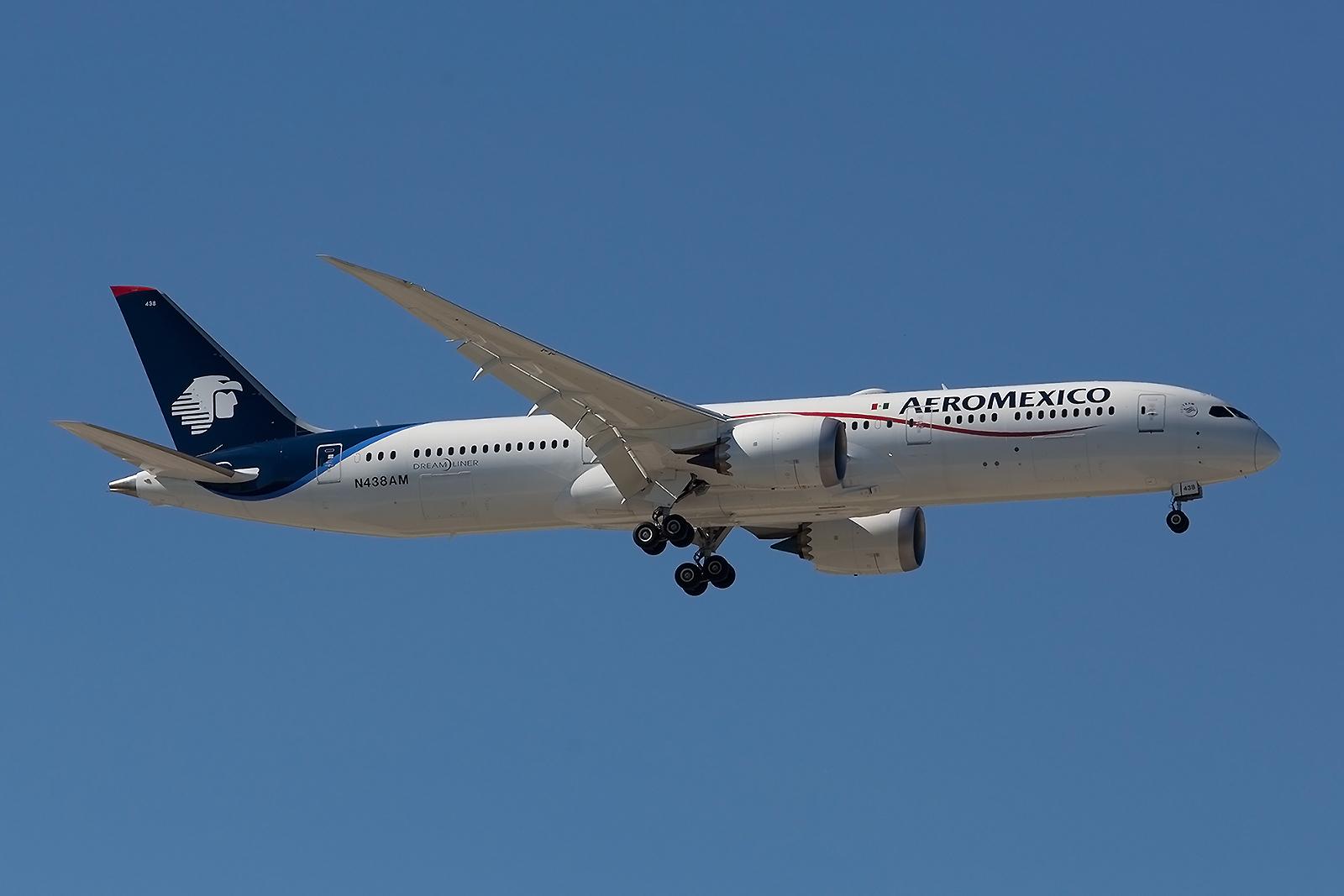 """Aeromexico bedient als Mitglied des """"Sky Team"""" ebenfalls CDG."""