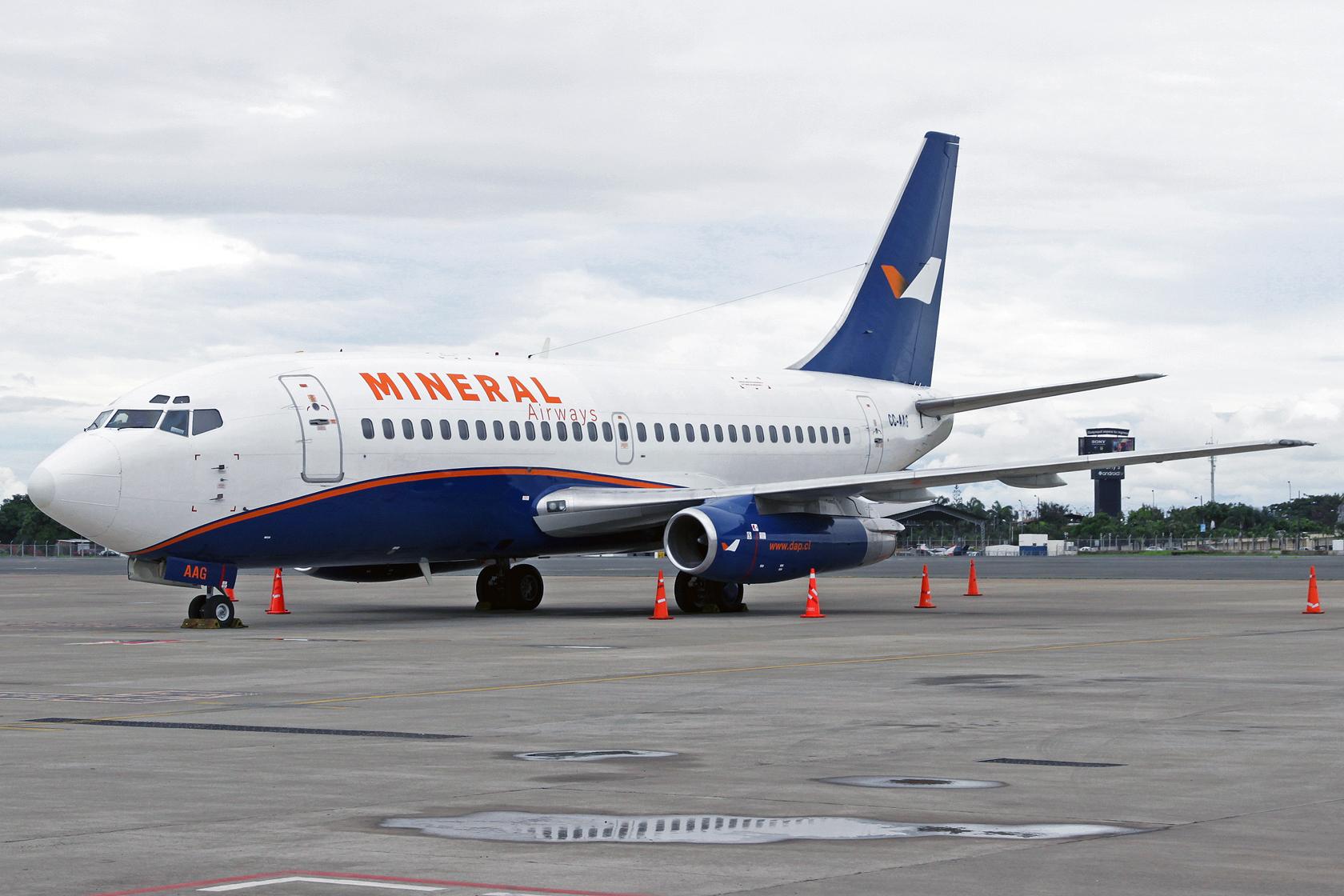 Mineral Airways Boeing 737-247Adc CC-AAG - Mineral Airways ist eine Tochtergesellschaft der Aerovías DAP und betreibt zwei 737-200.
