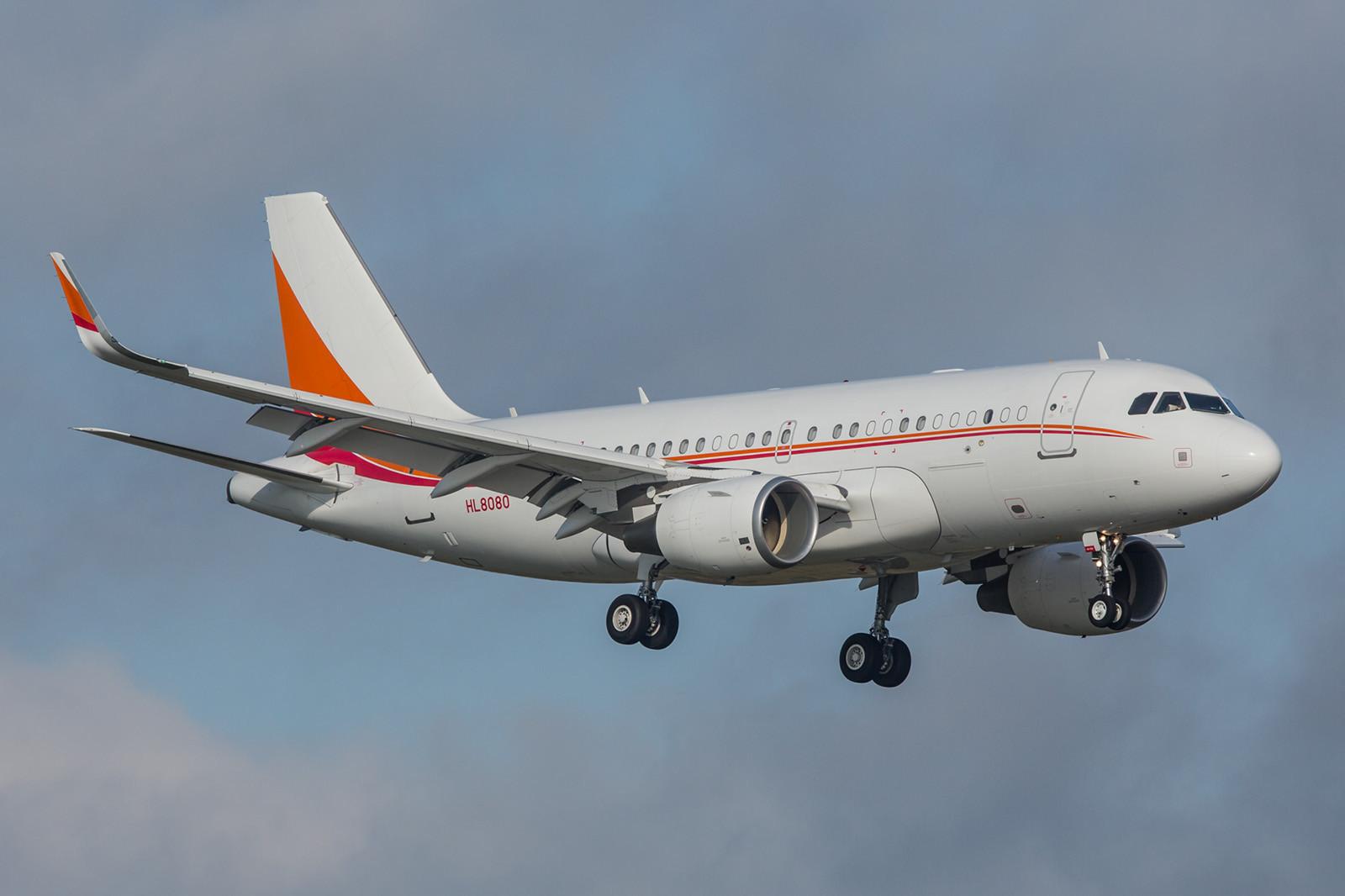 HL8080; SK Telecom Airbus A319-115(CJ)
