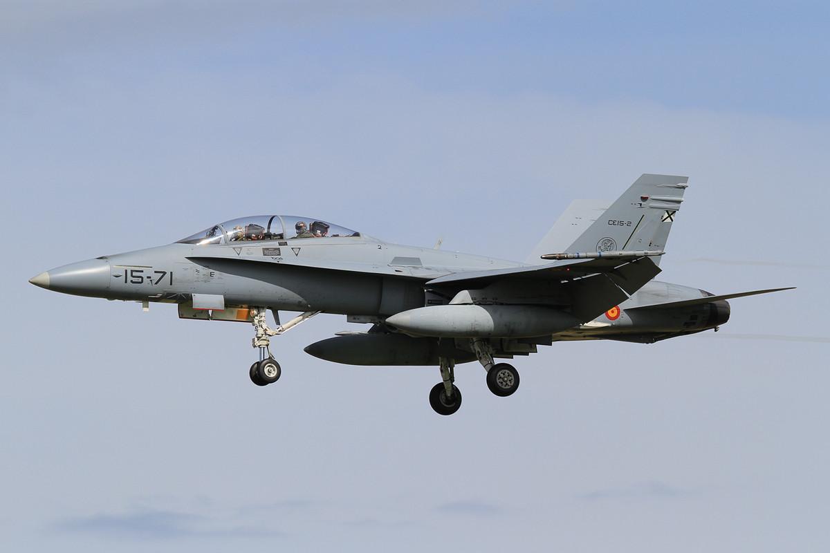 Außerhalb Spaniens sind die EF-18B+ nicht oft zu sehen.