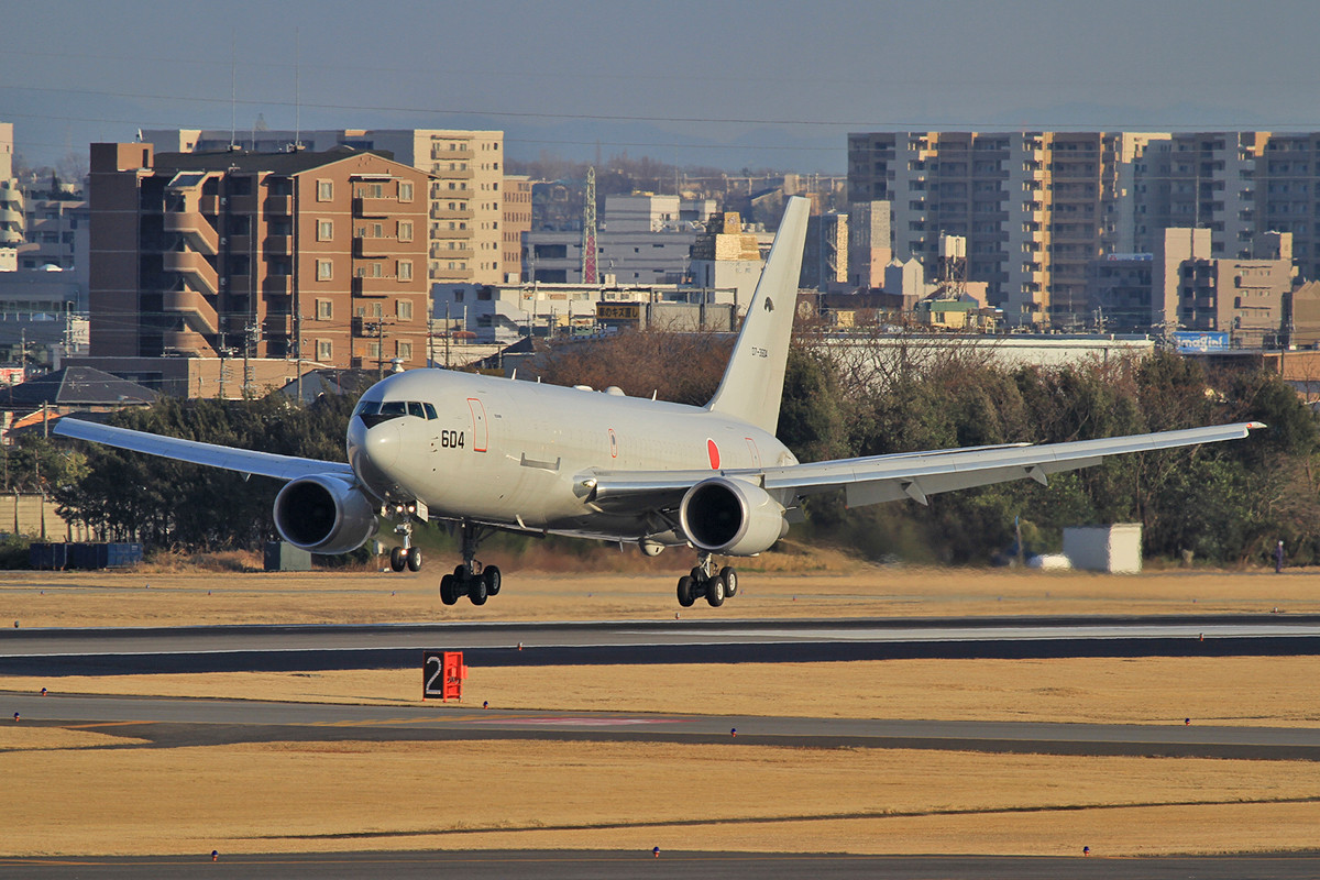 Die 604 war im Sommer als erstes japanisches Militärflugzeug auf dem RIAT 2012.