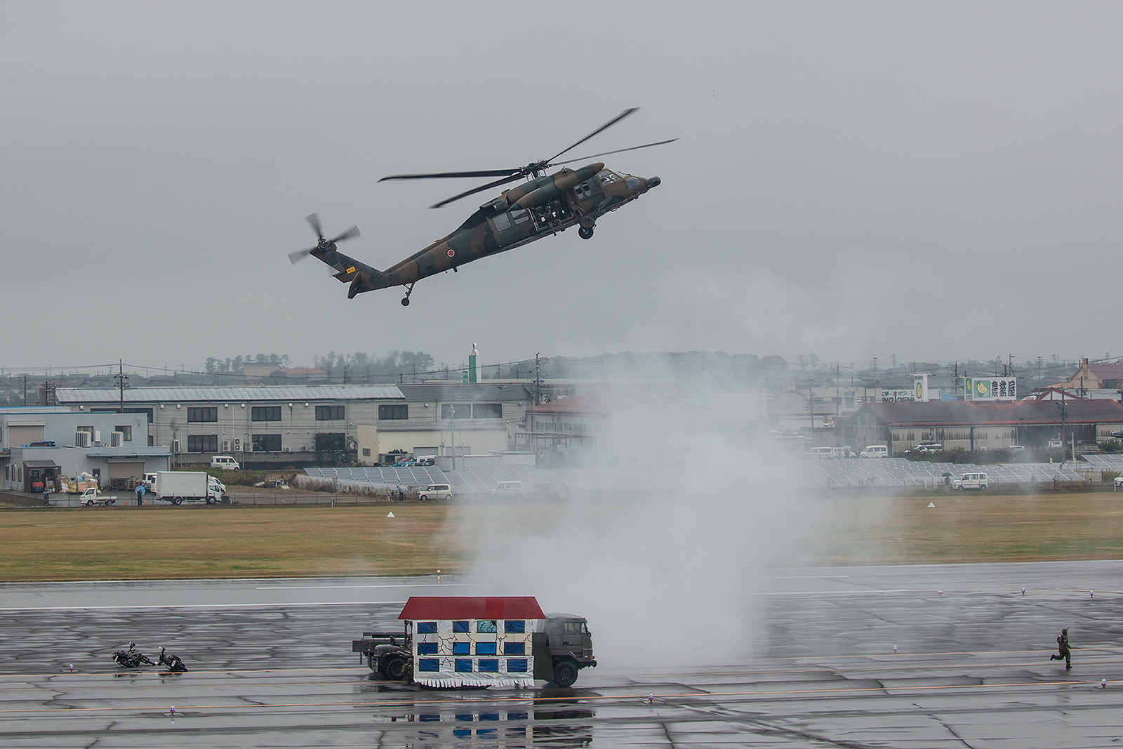 Anflug einer Sikorsky UH-60J Blackhawk.