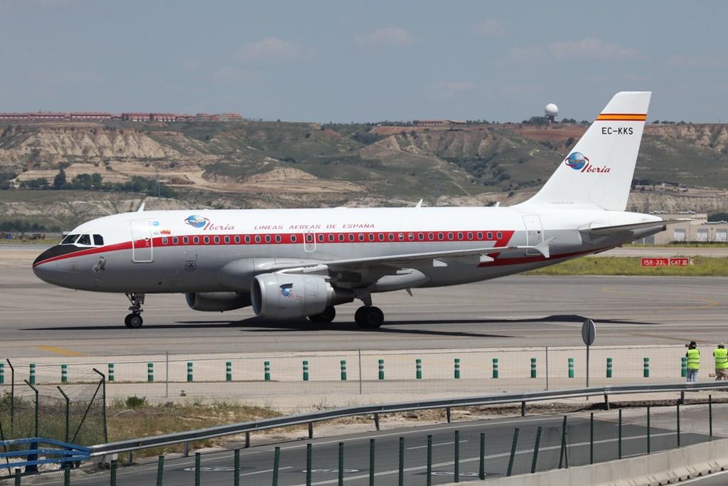 Der Retrojet von Iberia.