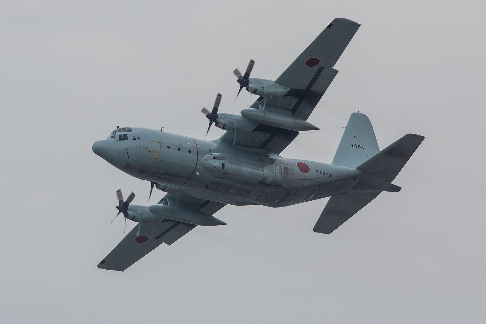 Die C-130R machrt sich wieder auf den Heimweg nach Atsugi bei Tokyo.