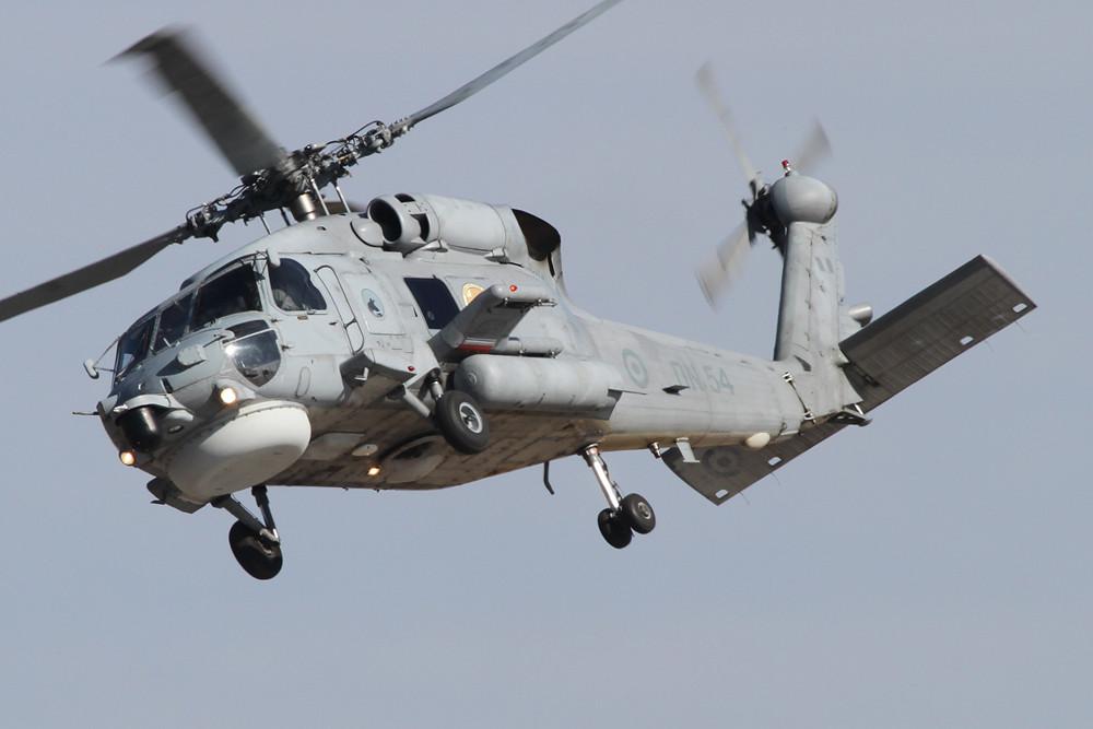 Die griechische Marine fliegt neben der Alouette III den S-70B Sea Hawk.