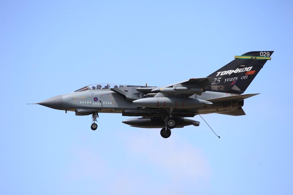 25 Jahre Tornado GR in der RAF, hier bei einer Fanghakenlandung in RAF Marham.