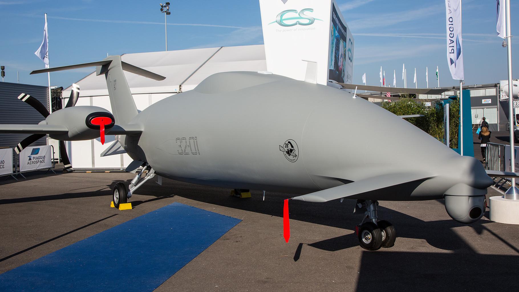 Piaggio hat auf der Basis  der P-188 eine Drohne entwickelt.