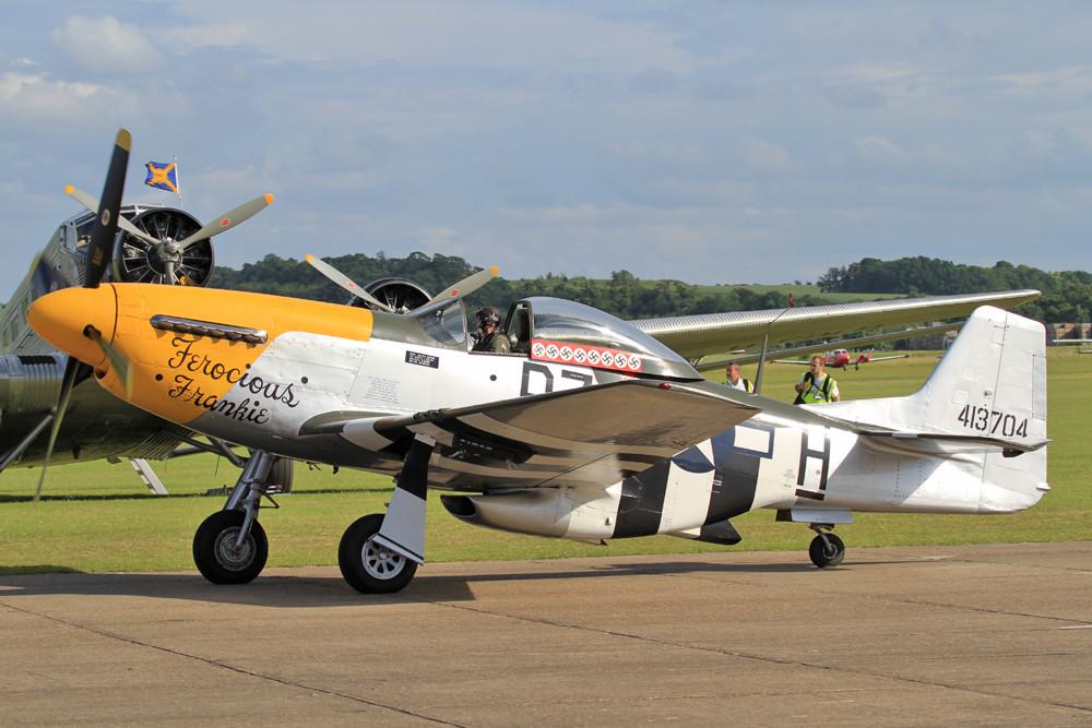 Die Mustang nach der Landung.
