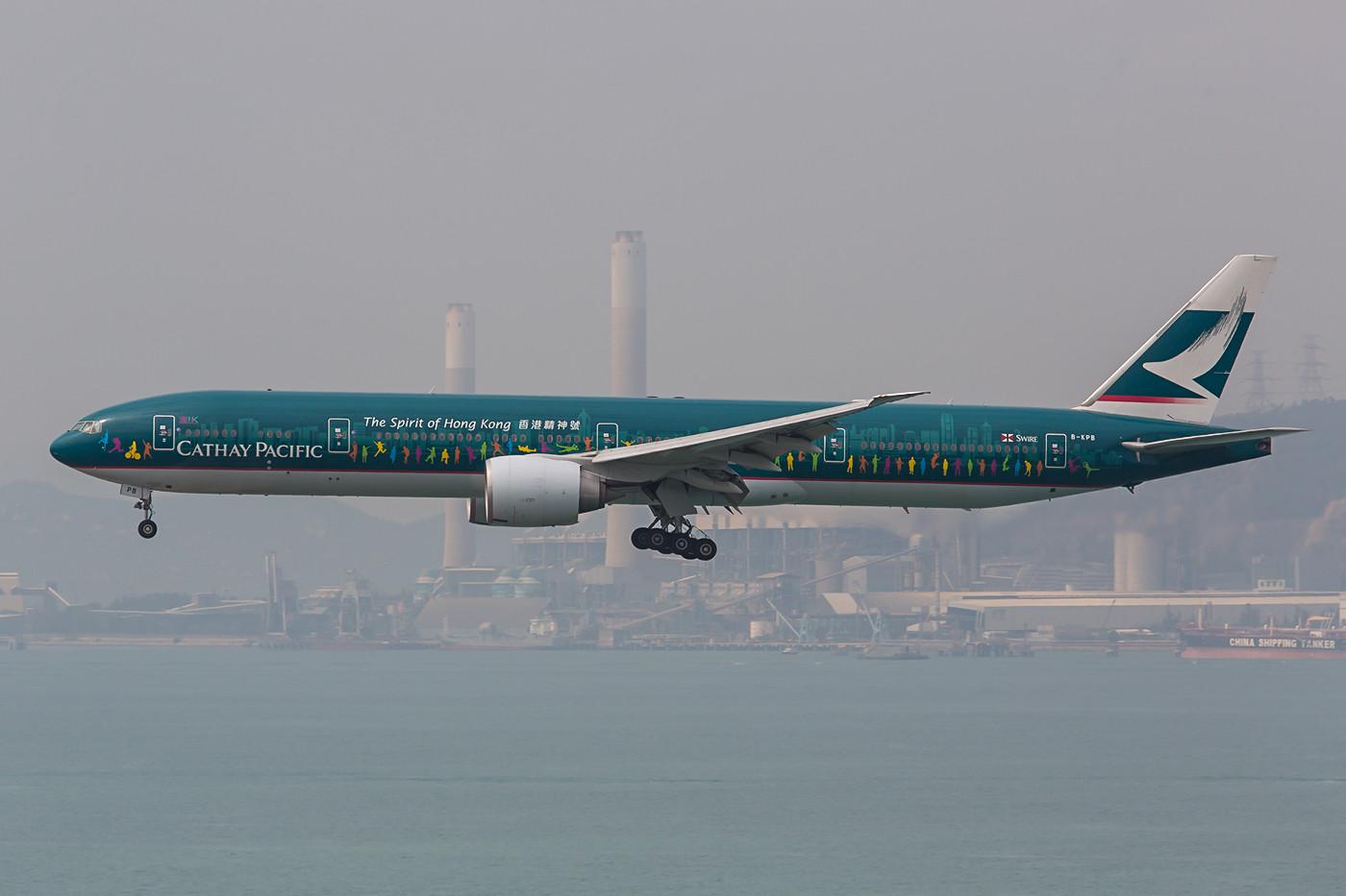 """Die """"Spirit of Hong Kong"""", Cathays neuer Logojet."""
