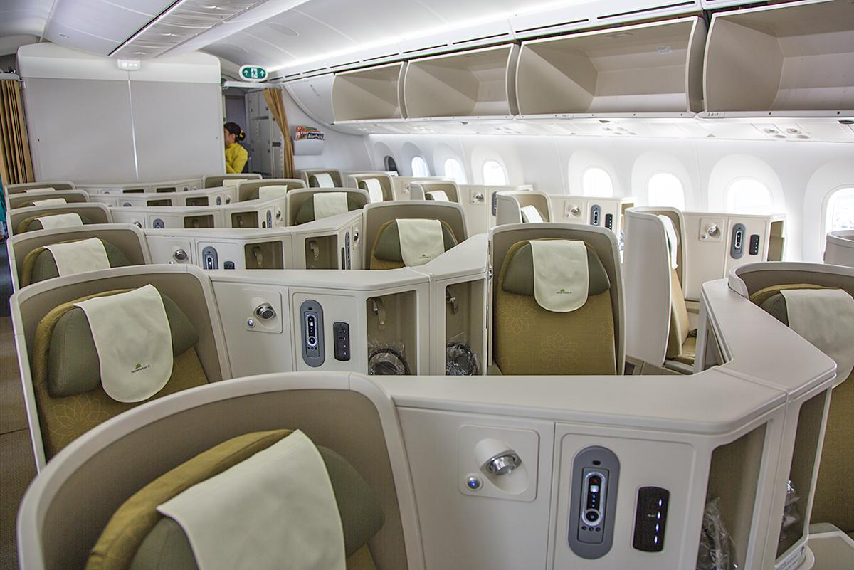 Im Dreamliner gibt es 28 Plätze in der Business Class.