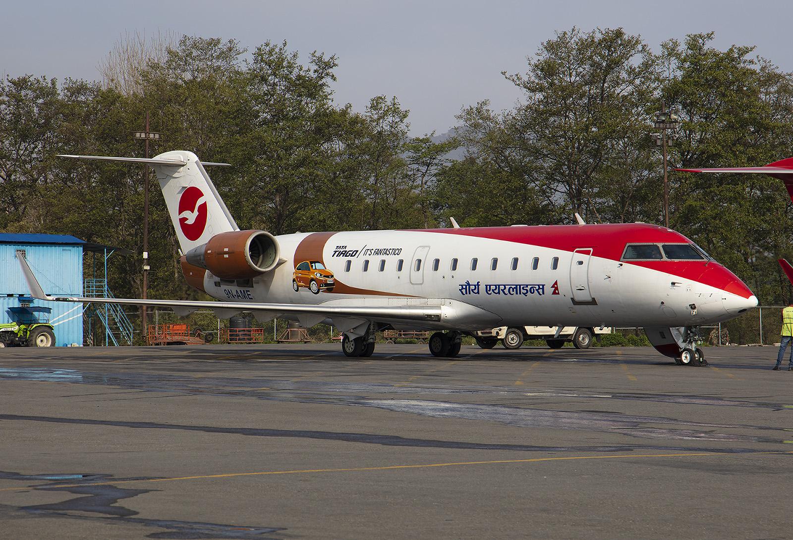 Diese CRJ-200 von Saurya Airlines flog schon in den USA, Südafrika und Nigeria.