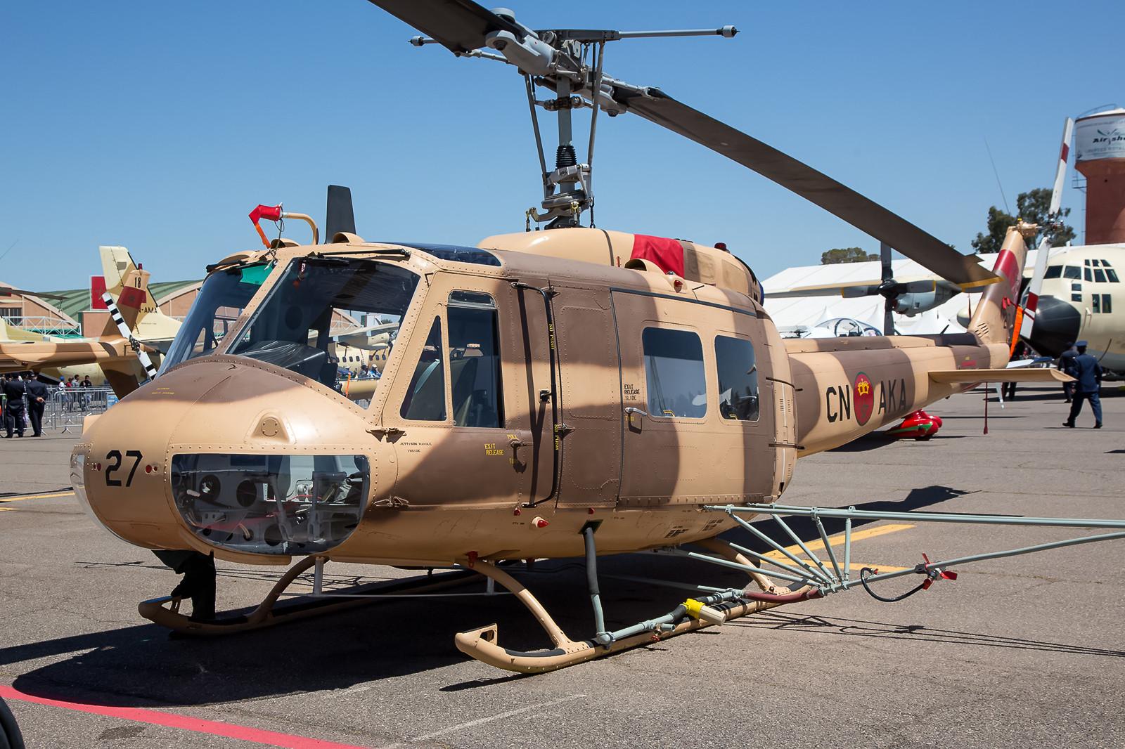 Die AB-205 sind in Marokko schon seit 1968 im Dienst.