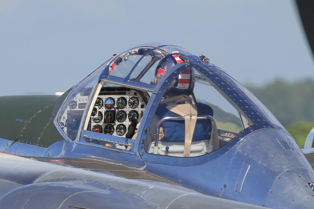 Der Arbeitsplatz in der P-38 Lightning.