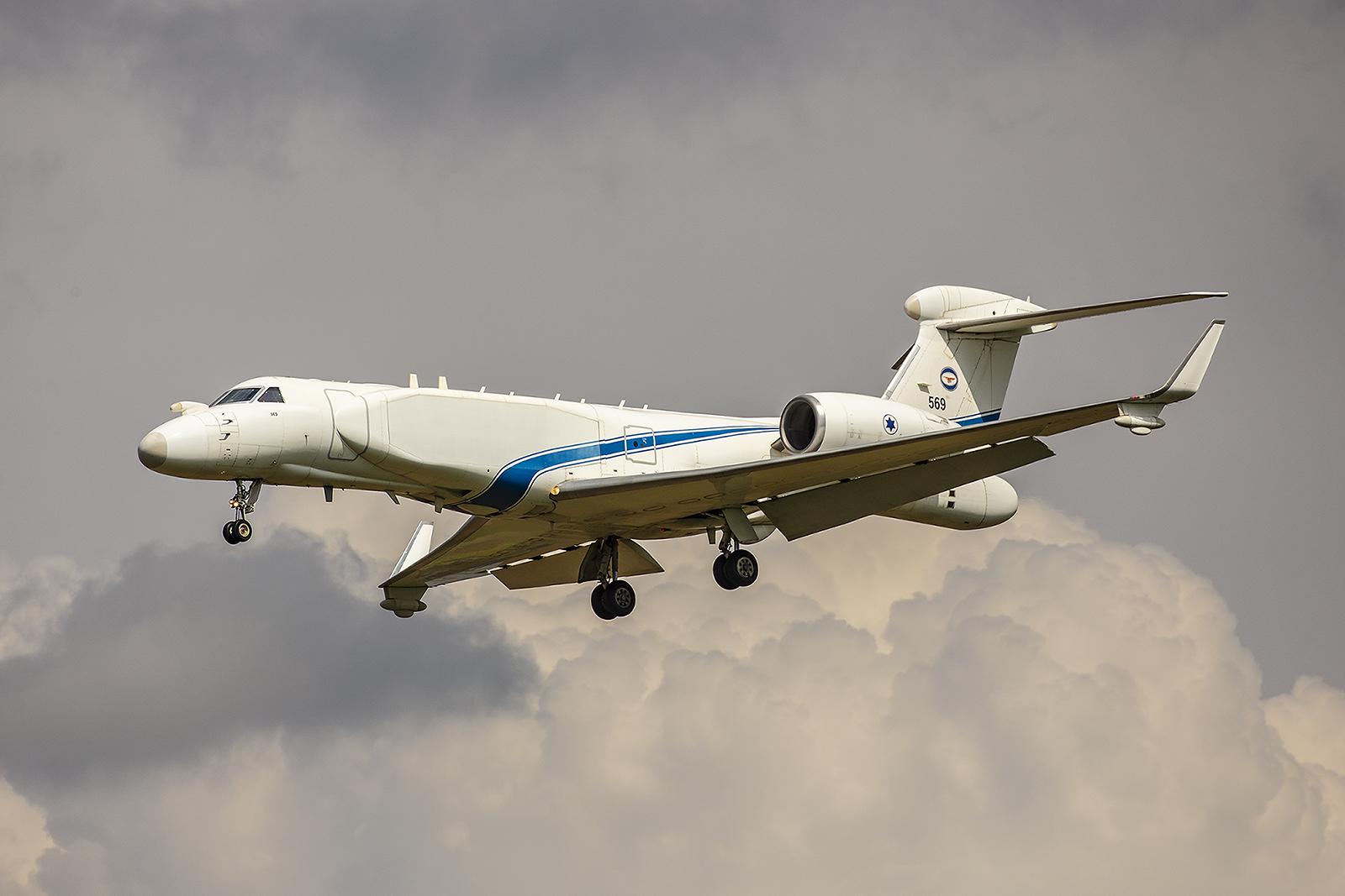 Einige finden sie häßlich und einige schön, Gulfstream G-550CAEW Nachshon Eitam.