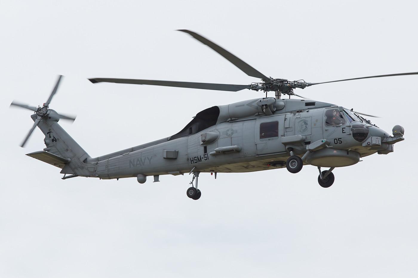 """MH-60R derUS Navy, er gehört normalerweise auf die USS """"George Washington""""."""
