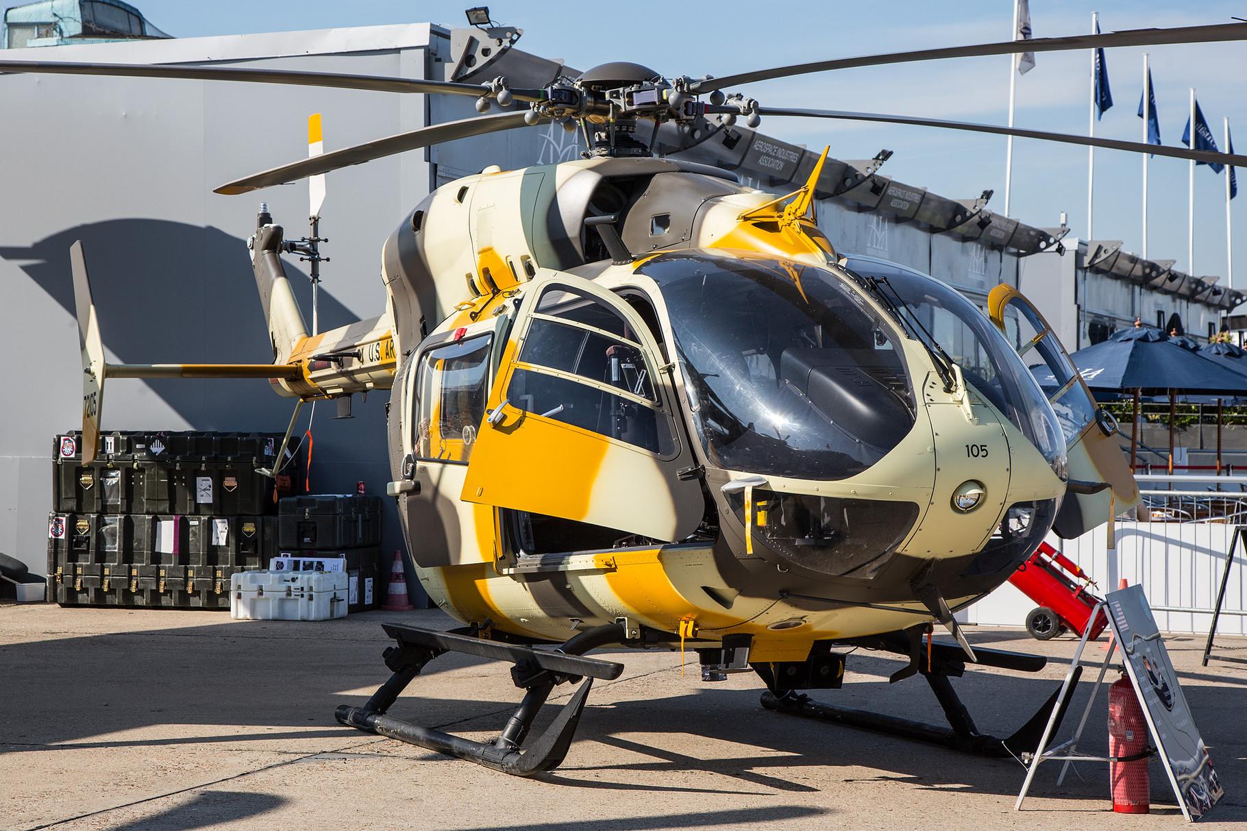 Die UH-72 Lakota ersetzt bei der US Army die UH-1. Die Produktion des auf der EC-145 basierenden Hubschraubers für die Amerikaner läuft auch in den USA.
