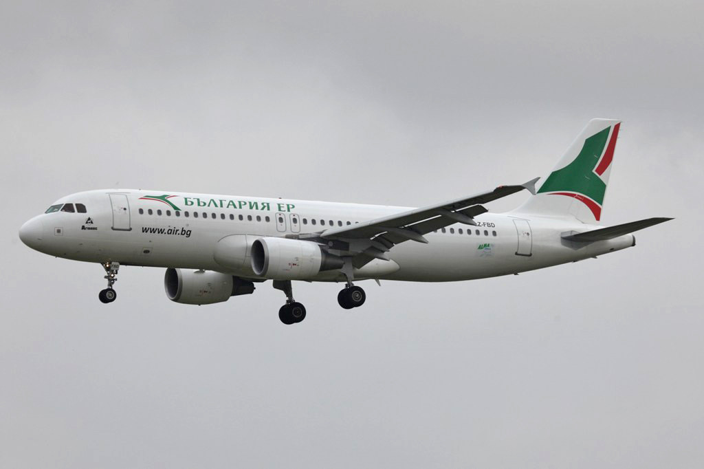 Aus Sufia kam die Bulgaria Airlines.