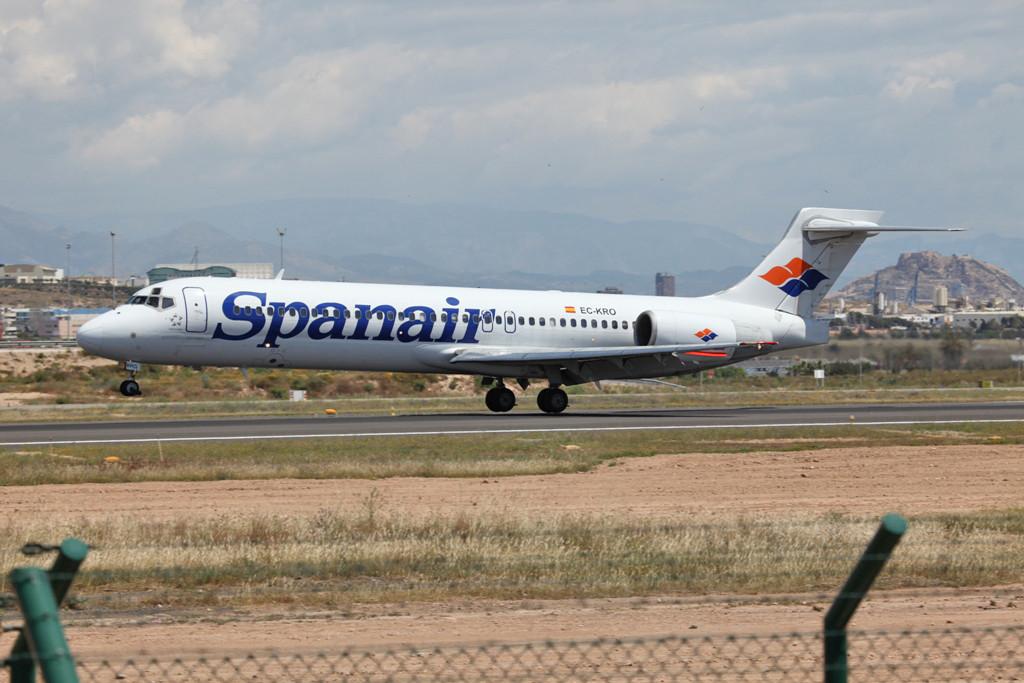 Spanair MD 87, da schien die Welt noch in Ordnung, obwohl die lange Pleite der Airlines fast 6 Jahre gedauert hat.