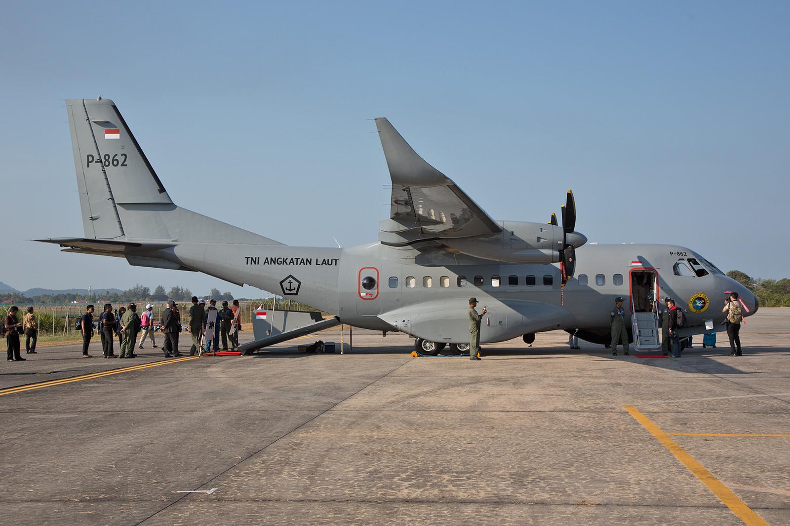 Die P-862 von außen, die CASA CN-235MPA´s gehören zur  Skwadron Udara 800 in Surabaya auf Java.
