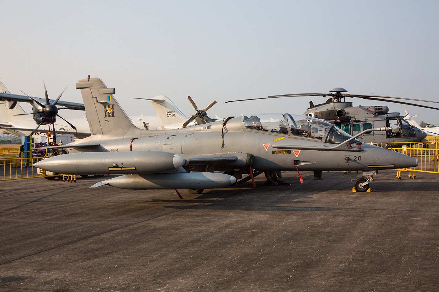 Die MB-339 werden in der Ausbildung verwendet und sind in Kuantan stationiert.