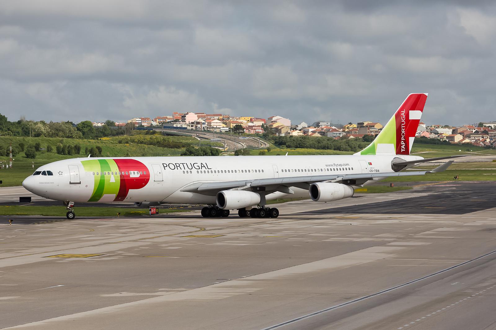 Noch 5 Airbusse A340-300 betreiben die Portugiesen, mal sehen wie lange noch.