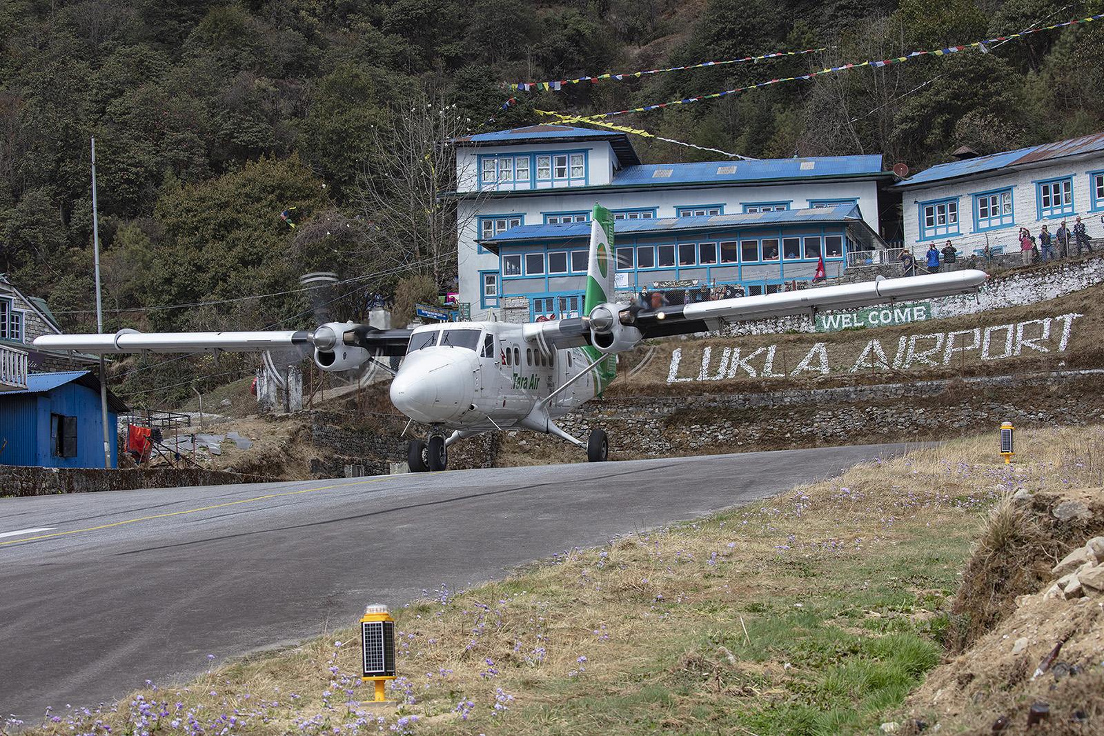 Die Twin Otter braucht von allen Flugzeugmustern am wenigsten Anlauf.
