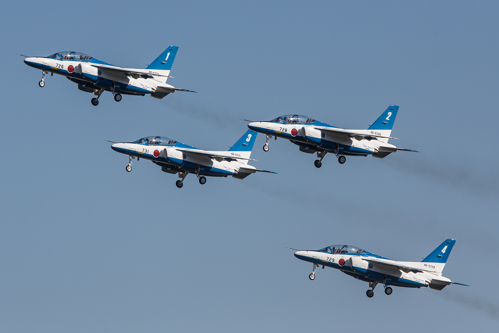 Take-off der Formation.......