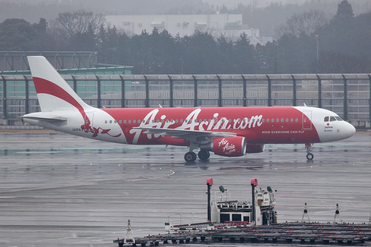 Air Asia Japan ist noch im Aufbau und fliegt derzeit mit 6 A 320.