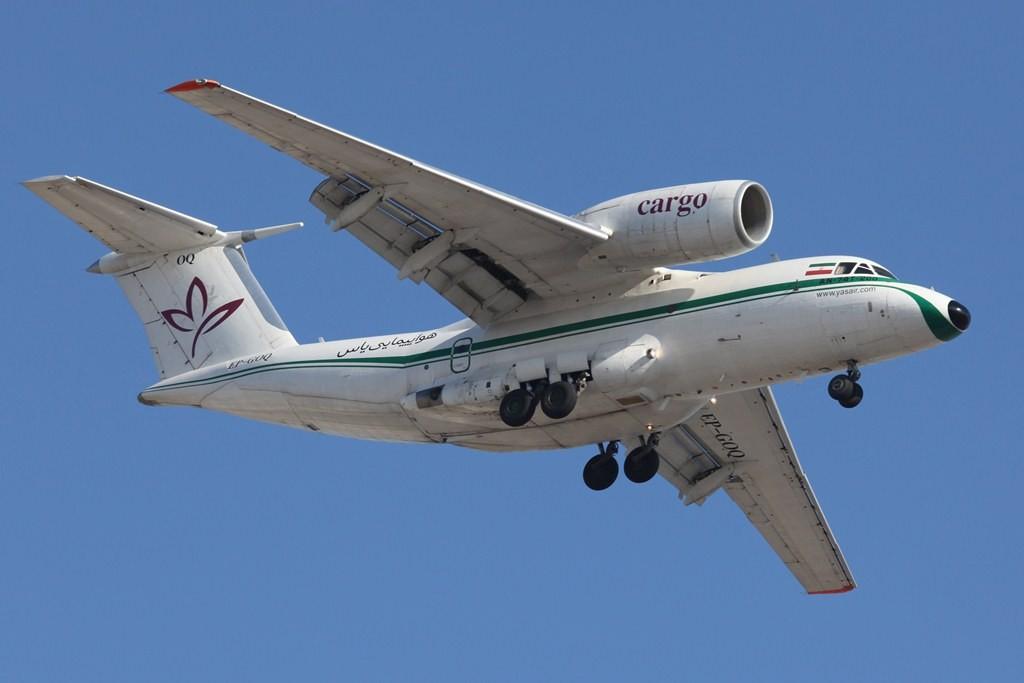 Auch Frachtkurse bestehen zwischen Dubai und dem Iran, hier die Yasair mit einer Antonov AN 74.
