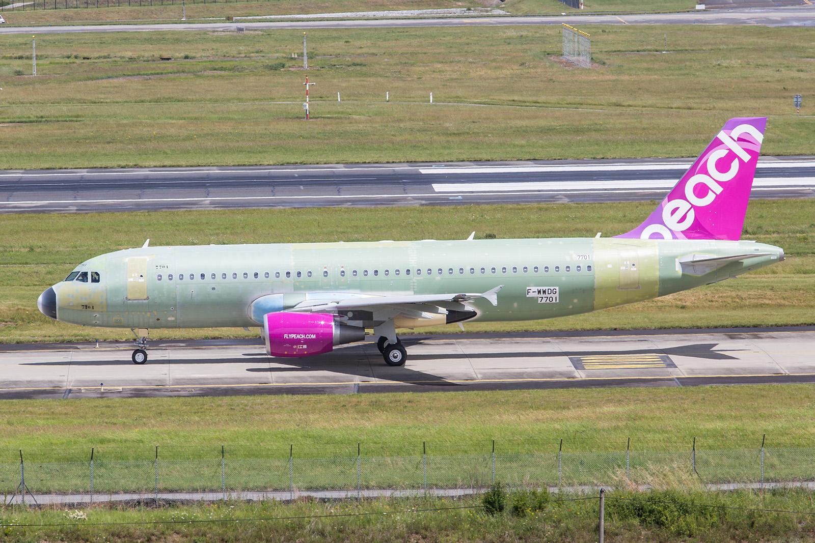 Die 19. A320 für die japanische Peach Aviation.