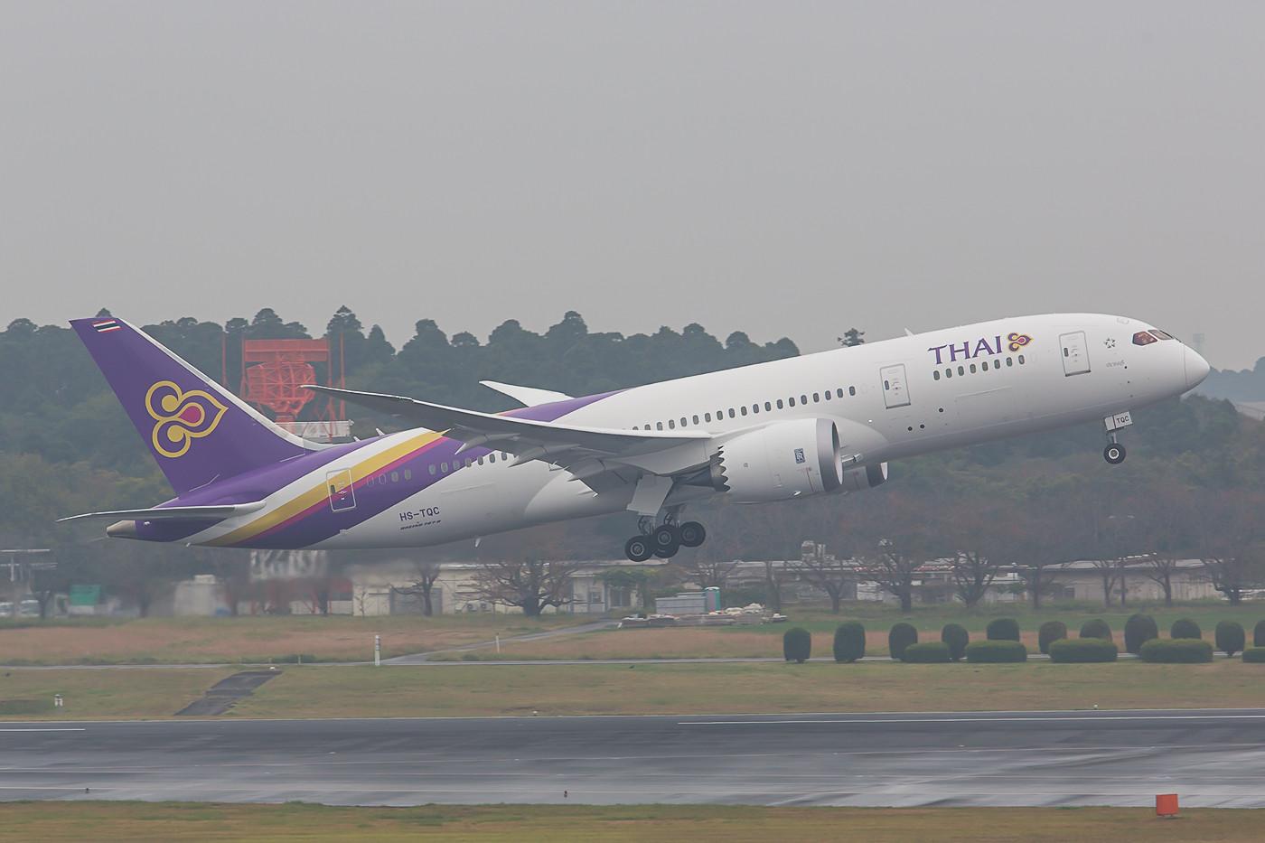 Die HS-TQC ist der dritte Dreamliner für Thai Airways und hat im Winterflugplan die A-330 ersetzt.