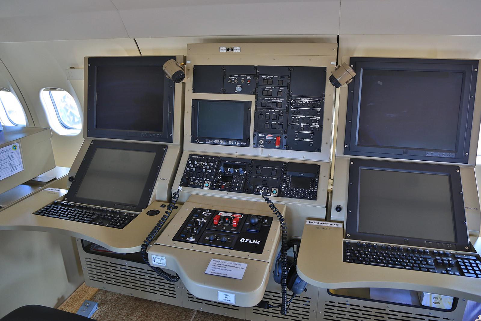 Der Arbeitsplatz der Operator in der CASA.