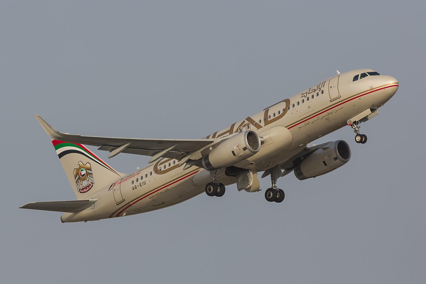Ethiad Airbus A320 mit Sharklets.